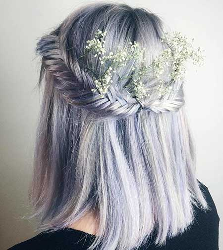 Braids, Idea, Bun, Flower