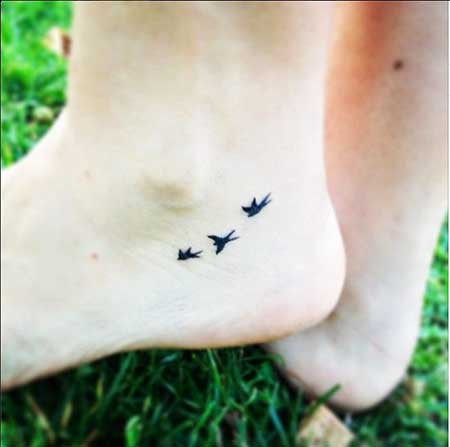 Small Tattoos Small Simple Foot - 16
