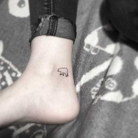 Small Tattoos Small Simple Foot 2017 - 17