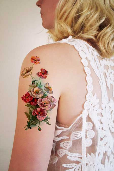 Small Tattoos Flower Vintage Small - 9