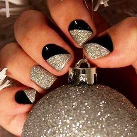 Nails 2017, Nail Design, Silver Nail, Nail Idea, Naildesign, Nail Art 2017, Black Nail, Glitter,