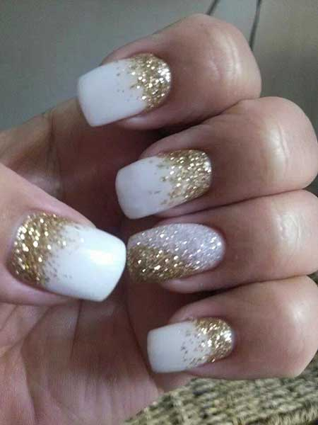 Nails 2017, Wedding Nails 2017, Glitter, Nail Idea, Nail Design, Nail Art 2017, Glitter Nail, French Manicure, Sparkle, Manicures