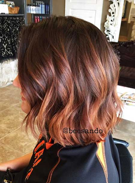 Bob Hairstyles With Auburn Highlights Styles 2018