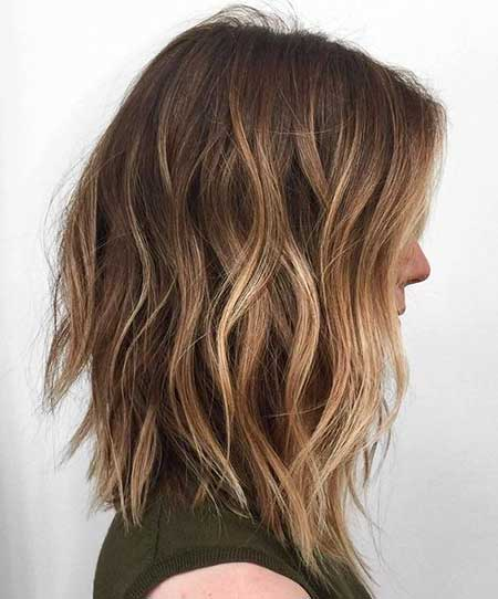 Balayage, Brown Bob, Choppy Bob, Brown Balayage, Light Browns
