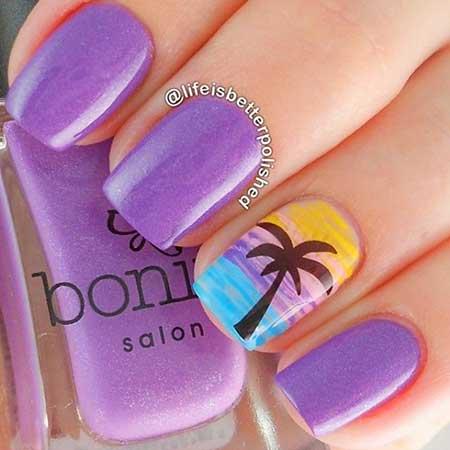 Nail Design, Nail Art 2017, Purple Nail, Purple, Polish, Nail Polish, Art, Pink