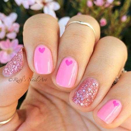 25 Cute Pink Nail Art 2017 Styles 2018