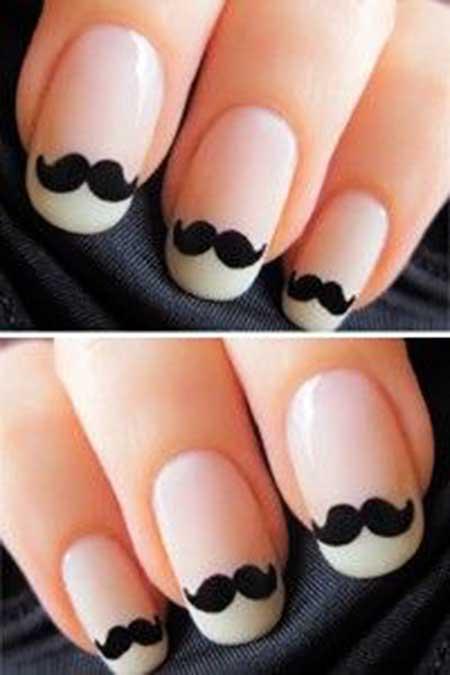 Mustache Nail, Moustache Nail, Mustache, Nail Design, Moustaches, Nail Idea, Nail Art 2017, Movember, Naildesign