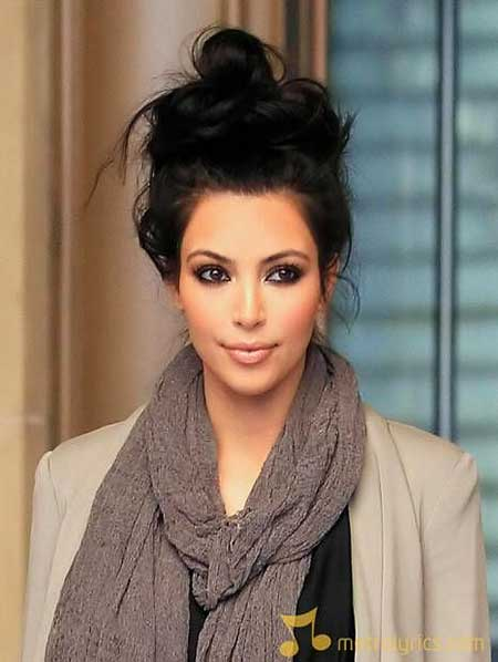 Beautiful, Short , Kim Kardashian, Kardashian, Updo, Short