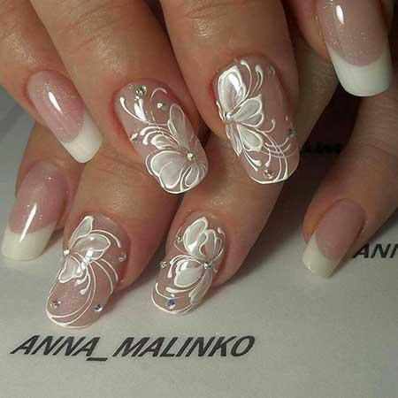 White flower nail art designs 7 white nail art for wedding mightylinksfo