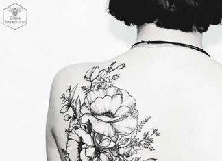 28 black flower shoulder tattoos styles 2018 28 black flower shoulder tattoos mightylinksfo