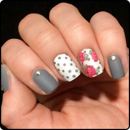 Nail Design, Nail Art 2017, Polka Dots, Dots, Art, Fall, - 25+ Simple Spring Nail Art Designs 2017