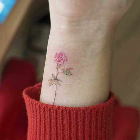 Small Tattoos Flower Small Rose