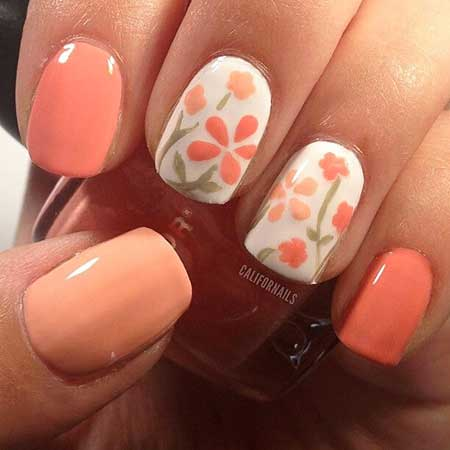 Nails Summer Simple Coral - 10
