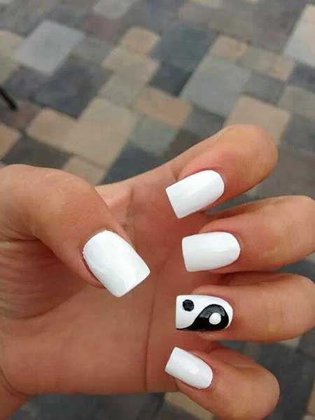 Simple Nails Summer Simple White - 11
