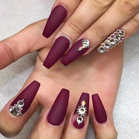 Nail Design, Nail Art 2017, Matte Nail, Coffin, Nail Idea, Accent Nail, Nail, Naildesign