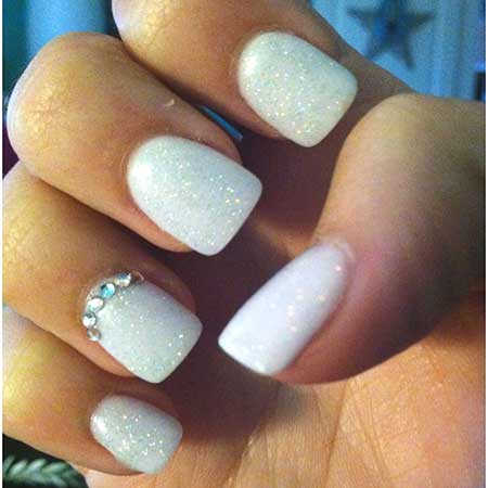 Simple Nails Summer Simple White - 12