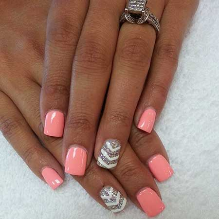 Summer Nails Summer Simple Coral - 12