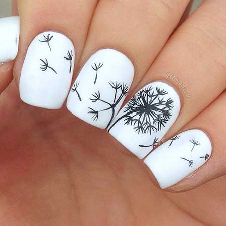 Simple Nails Summer Simple White 2017 - 13