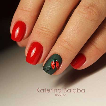 Nail Art 2017, Nail Design, Art, Red, Red, Manicures, Nailart, Polish