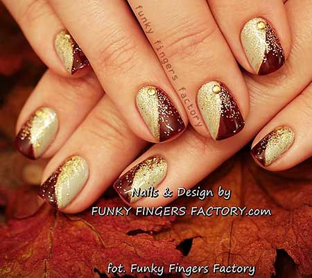 Nail Design, Nail Art 2017, Gold Nail, Nail Idea, Gold, Nailart, Glitter, Art