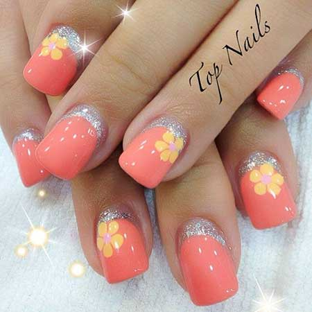 Nails Summer Simple Coral - 15