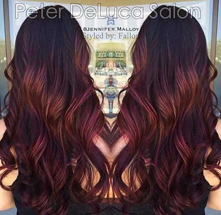 Balayage, Red, Colour, Ombre