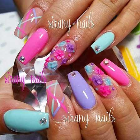 Nail Art 2017, Nail Design, Pink, Pink Hearts, Heart Nail, Nailart, Pink, Art