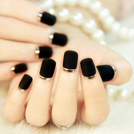 Black Nail, Nail Art 2017, Nail Design, Kiss, Manicures, Nail Polish, Art