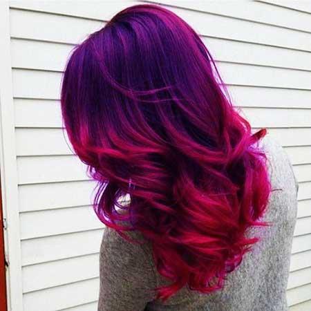 Purple, Purple, Ombre, Balayage