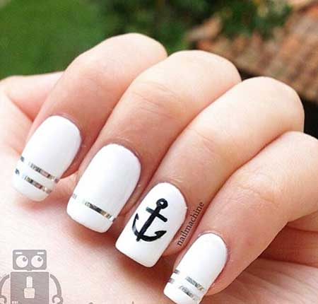 Simple Nails Summer Simple White 2017 - 17