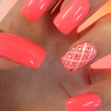 Summer Nails Summer Simple Coral - 18
