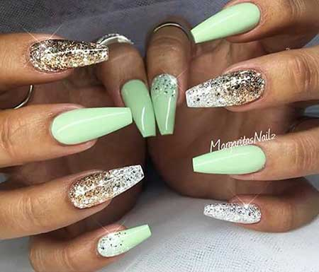 Nail Design, Nail Art 2017, Stiletto, Coffin, Margaritasnailz, Glitter, Nail Idea, Nailart