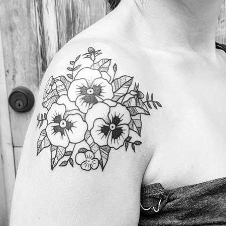 28 black flower shoulder tattoos styles 2017 black tattoos flower shoulder black 2017 19 mightylinksfo