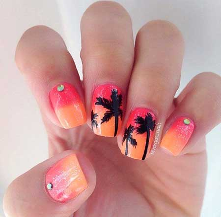Cute Nails Summer Simple Easy 2017 - 19