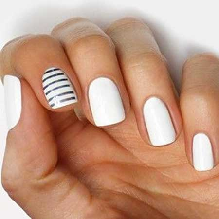 Simple Nails Summer Simple White 2017 - 19
