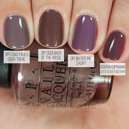 Opi, Polish, Swatch, Peachy Polish, Nail Polish, Nail, China Glaze, Collection Peachy, Fall