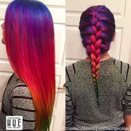 10 Purple To Red Ombre Hair Color Styles 2018