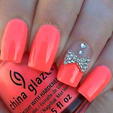 Summer Nails Summer Simple Coral
