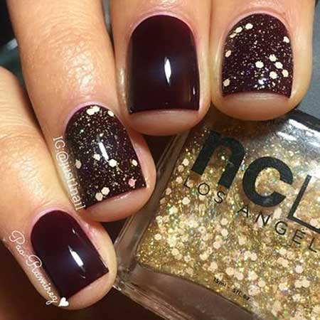 Nail Design, Glitter, Nail Art 2017, Polish, Glitter Nail, Nail Idea, Nail Polish, Holiday, Christmas