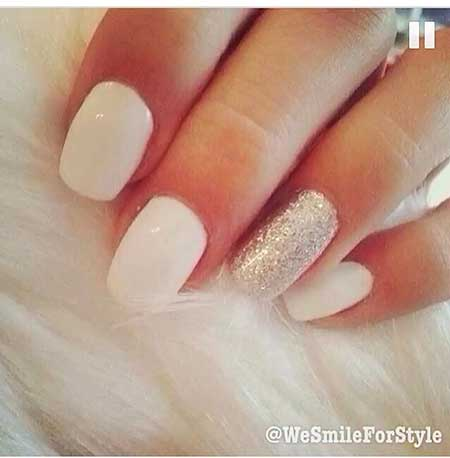 Nails Summer Simple White - 21