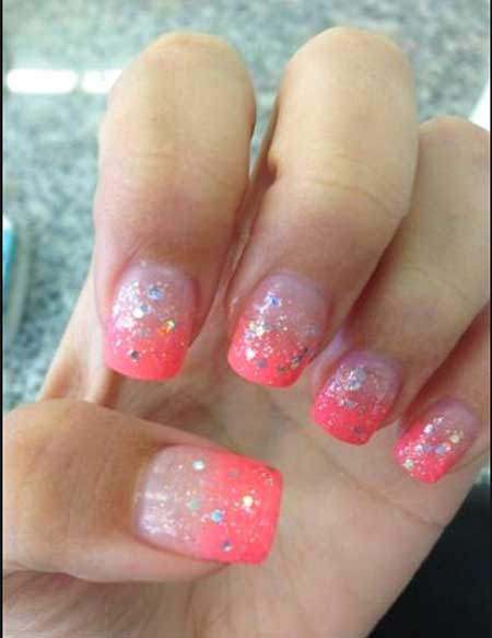 Nails Summer Simple Coral - 21