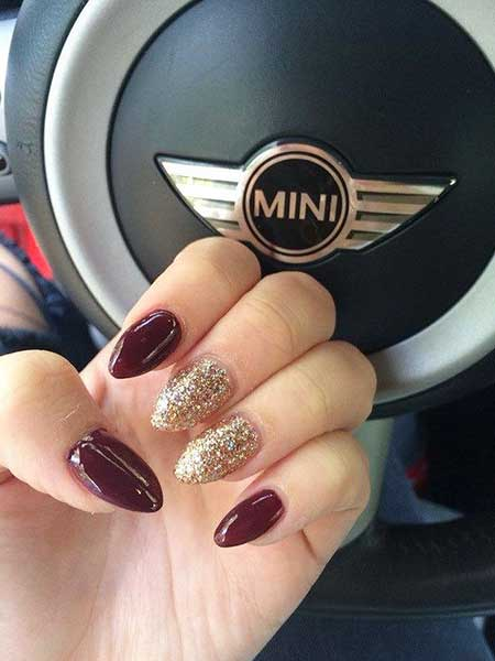 Nail Design, Black Nail, Nail Art 2017, Glitter Nail, Nail Idea, Stiletto, Glitter