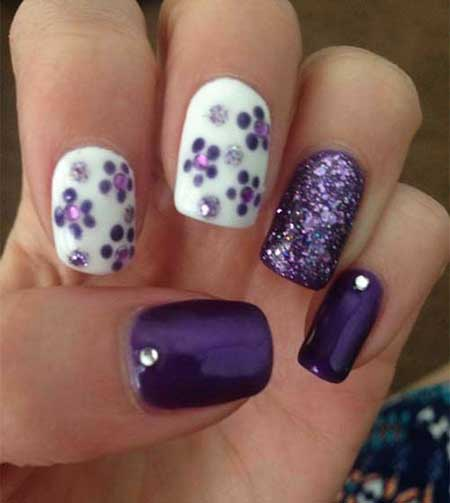 Nail Design, Nail Art 2017, Polka Dots, Dots, Dot Nail, Art, Purple Nail, Purple