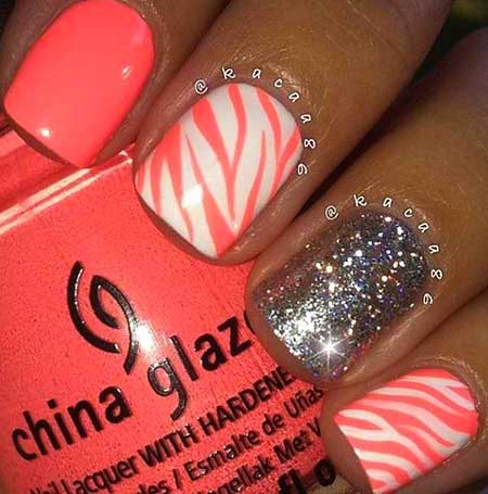 Summer Nails Summer Simple Coral - 22