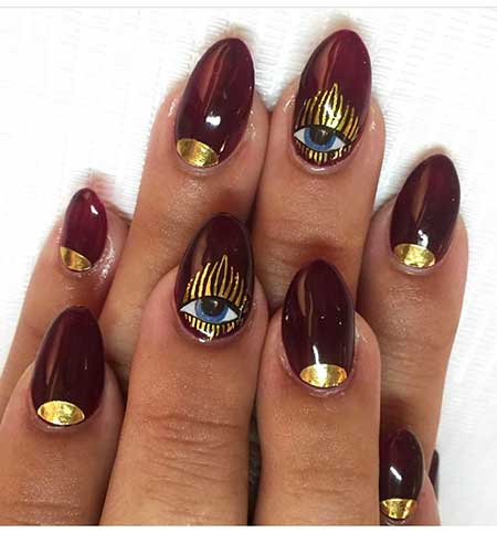 Nail Art 2017, Nail Design, Gold Nail, Nailart, Art, Gold, Naildesign