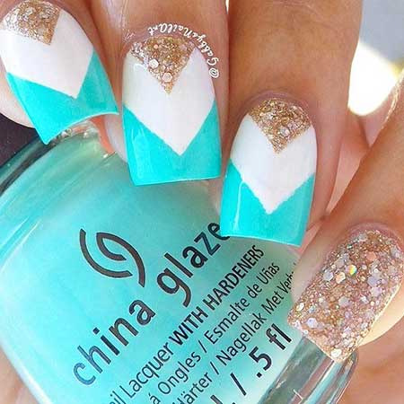Simple Nails Summer Simple White 2017 - 24
