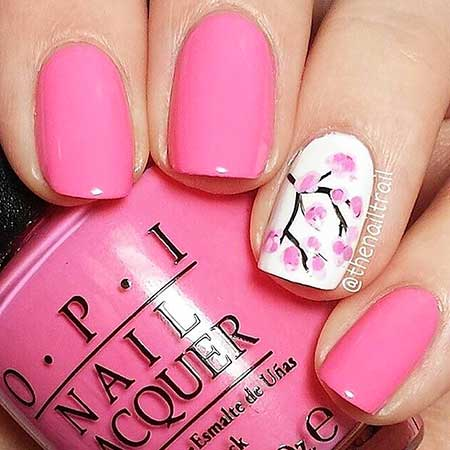 Opi, Nail Design, Nail Art 2017, Pink, Polish, Pink, Swatch, Nail Polish, Cherry Blossoms