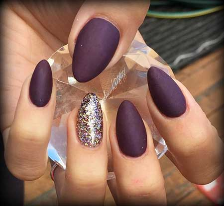 Nail Design, Nail Art 2017, Stiletto, Matte Nail, Purple Nail, Coffin, Nail Idea, Art