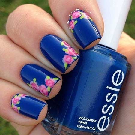 Nail Art 2017 Design Blue Polish Fl