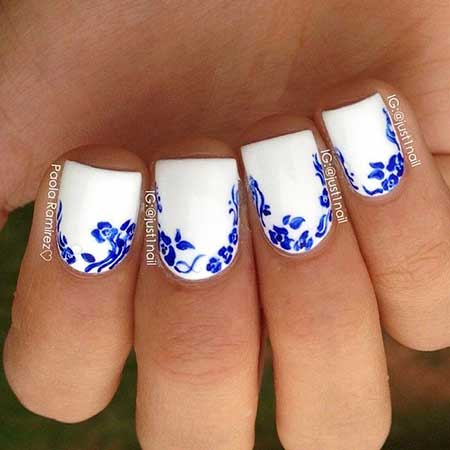 Nail Art 2017, Nail Design, Art, Blue, Snowflake, Blue, Christmas, Winter